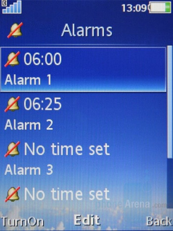 Alarms - Sony Ericsson C905 Review