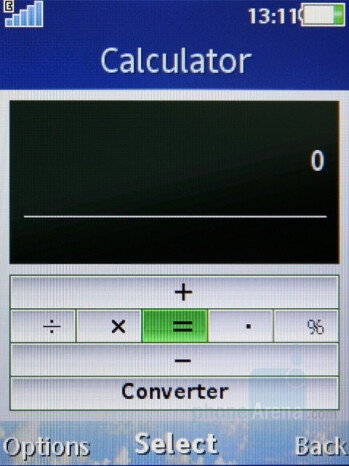Calculator - Sony Ericsson C905 Review