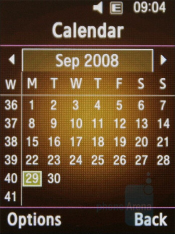 Calendar - Samsung BEATb Preview