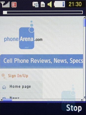 WAP browser - Samsung BEATs Preview