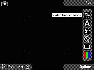 N82 - Camera Interface - GSM Cameraphone Comparison Q4 2008