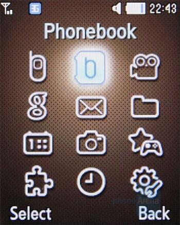 Main menu - Samsung B2700 Preview