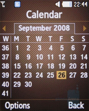 Calendar - Samsung B2700 Preview
