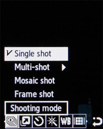 Camera interface - Samsung B2700 Preview
