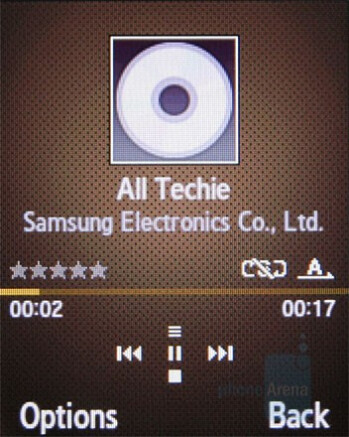 Music player - Samsung B2700 Preview