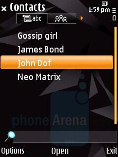 Phonebook - Nokia N85 Review