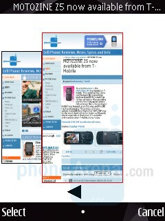 Web browser - Nokia N85 Review