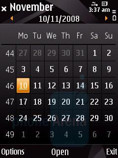 Calendar - Nokia N85 Review