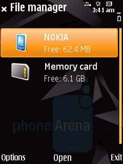 File manager - Nokia N85 Review