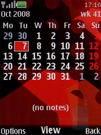 Calendar - Nokia 5220 XpressMusic Review