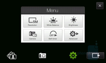 Camera interface - HTC Touch HD Review