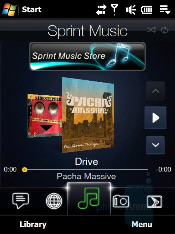 Sprint Music - HTC Touch Pro CDMA Review