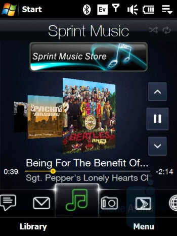 Music player - HTC Touch Pro CDMA Review