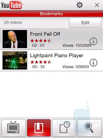 YouTube player - HTC Touch Pro CDMA Review