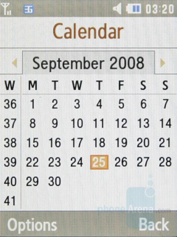 Calendar - Samsung S7330 Preview