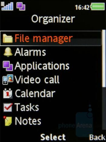 Menu - Organizer - Sony Ericsson W980 Review