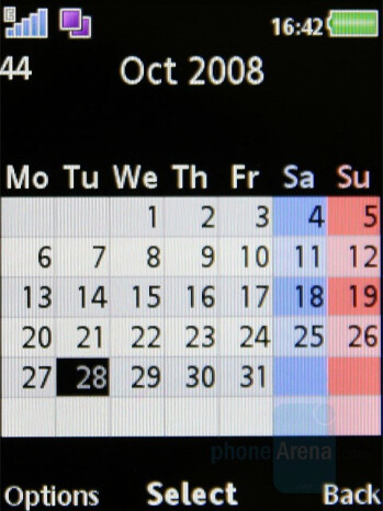Calendar - Organizer - Sony Ericsson W980 Review
