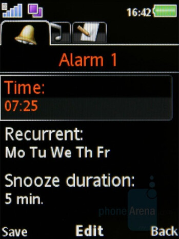 Alarms - Organizer - Sony Ericsson W980 Review