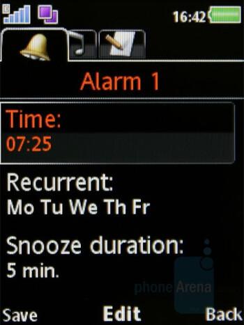 Alarms - Organizer - Sony Ericsson W980 Review