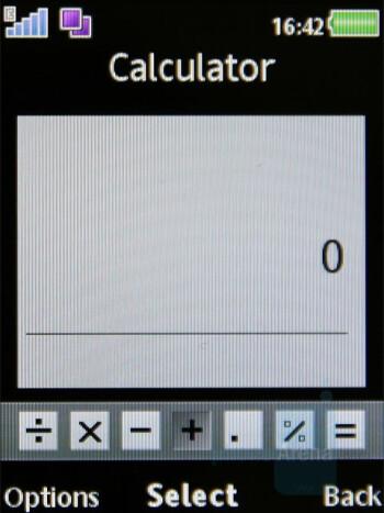 Calculator - Organizer - Sony Ericsson W980 Review
