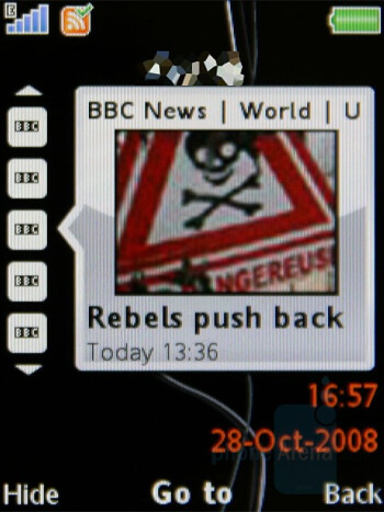 RSS Reader - Sony Ericsson W980 Review