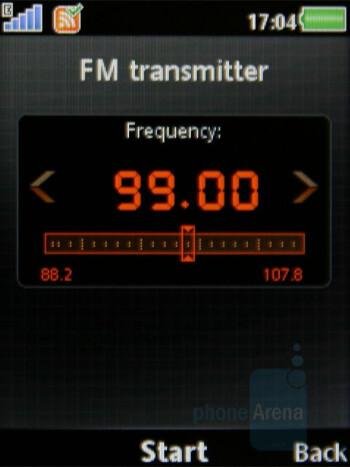 FM transmitter - Sony Ericsson W980 Review