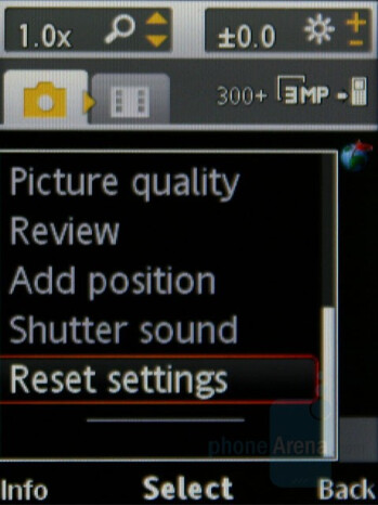 Camera interface - Sony Ericsson W980 Review