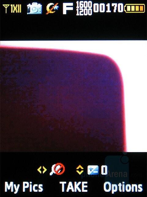 Camera Interface - Samsung Sway Review