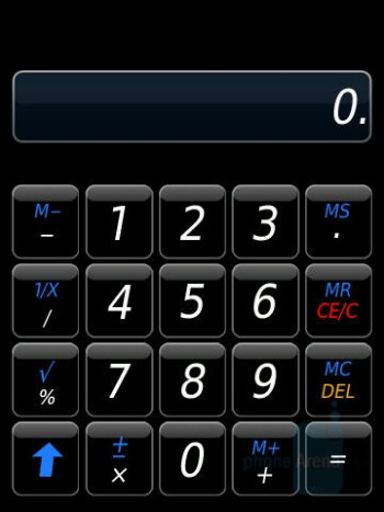 Calculator - BlackBerry Storm Review