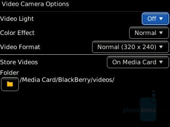 Camera interface - BlackBerry Storm Review