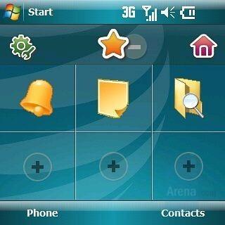 Favorites - Homescreen - Samsung Epix Review