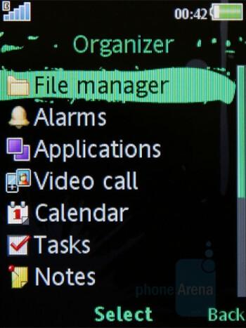 Organizer Menu - Sony Ericsson W595 Review