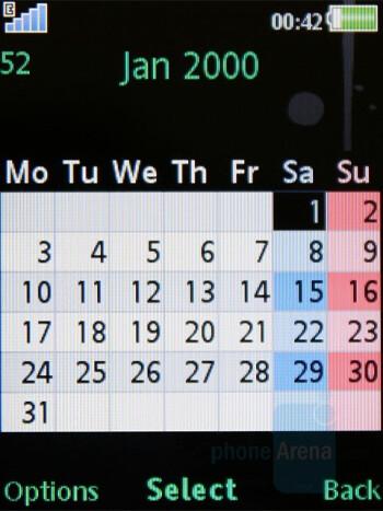 Calendar - Sony Ericsson W595 Review