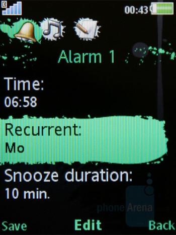 Alarm - Sony Ericsson W595 Review
