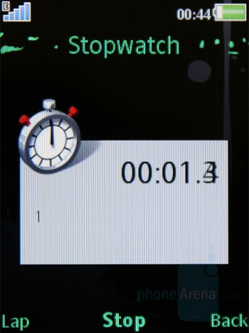 Stopwatch - Sony Ericsson W595 Review
