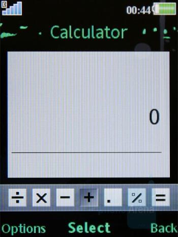 Calculator - Organizer - Sony Ericsson W595 Review