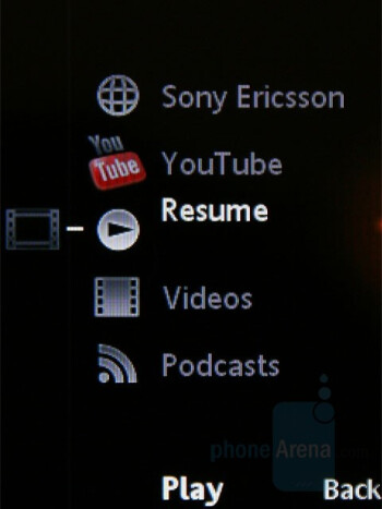 Video Player - Sony Ericsson W595 Review