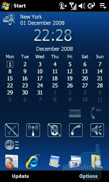 Homescreen - Sony Ericsson Xperia X1 Review