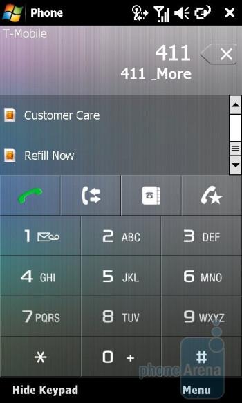 Dialpad - Sony Ericsson Xperia X1 Review