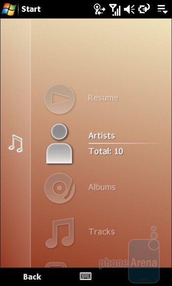 Music Player - Sony Ericsson Xperia X1 Review