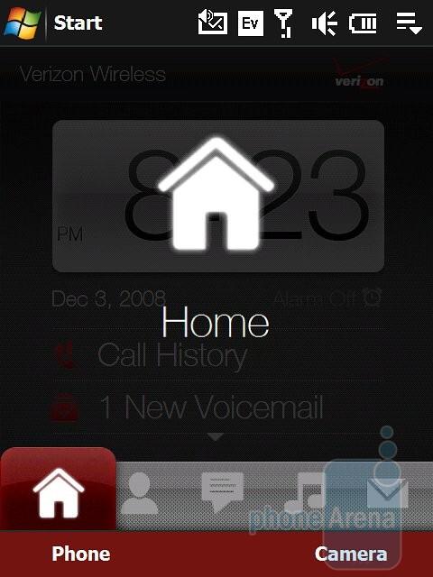 Homescreen - Verizon theme - HTC Touch Pro Verizon CDMA Review