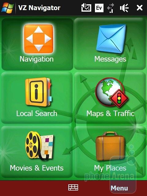VZ Navigator - Verizon theme - HTC Touch Pro Verizon CDMA Review