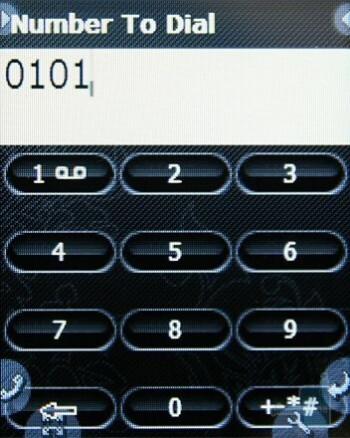 Dialing screen - Neonode N2 Review