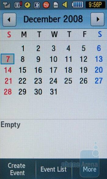 Calendar - Samsung Eternity Review