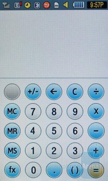 Calculator - Samsung Eternity Review