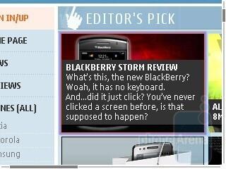 Internet browser - Nokia E66 Review