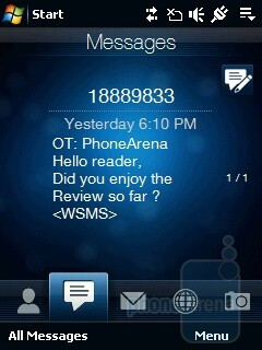Messages - HTC Touch Viva Review