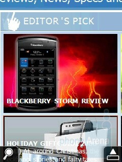 Internet browser - HTC Touch Viva Review
