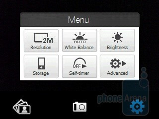 Camera interface - HTC Touch Viva Review