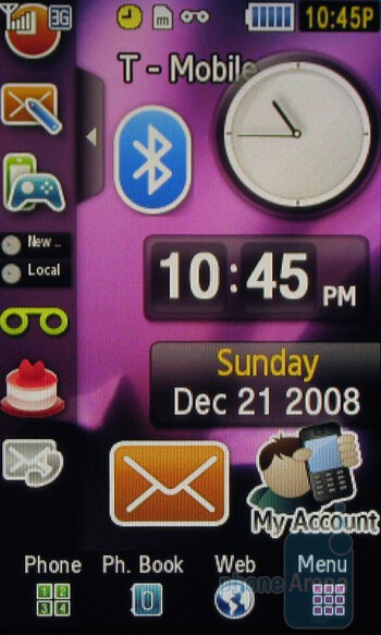 Home screen - Samsung Behold Review